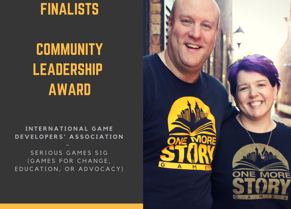 "OMSG Founders nominated for IGDA ""Community Leadership"" Award"